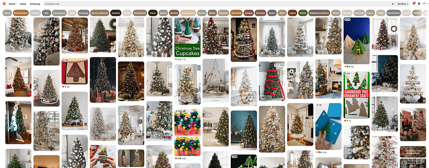 christmas trees on pinterest